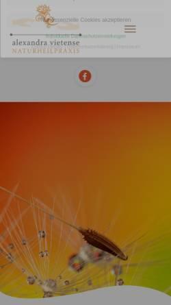 Vorschau der mobilen Webseite www.heilpraktiker-landau.de, Naturheilpraxis Alexandra Vietense