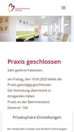 Vorschau der mobilen Webseite www.gp-wiesenstrasse.de, Gemeinschaftspraxis Wiesenstrasse