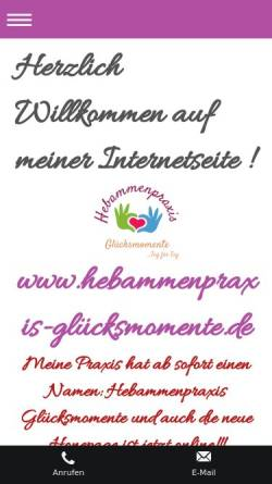 Vorschau der mobilen Webseite gaggenauer-hebamme.de, Hartmann, Regina