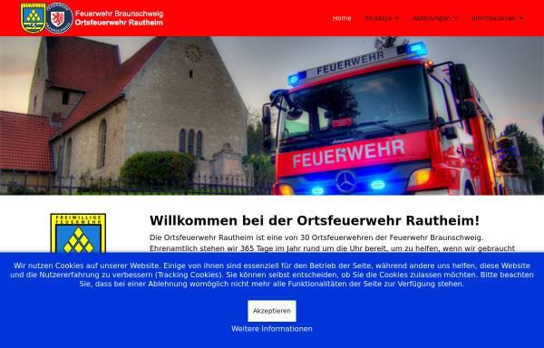 Vorschau von www.fw-rautheim.de, Freiwillige Feuerwehr Rautheim