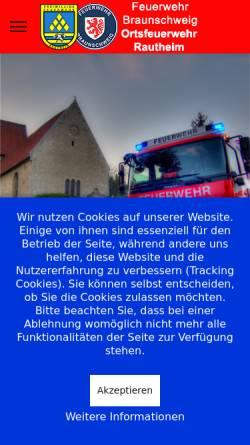 Vorschau der mobilen Webseite www.fw-rautheim.de, Freiwillige Feuerwehr Rautheim