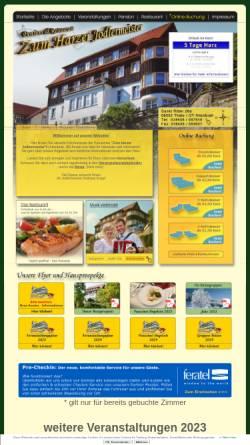 Vorschau der mobilen Webseite www.zum-harzer-jodlermeister.de, Pension & Restaurant Zum Harzer Jodlermeister
