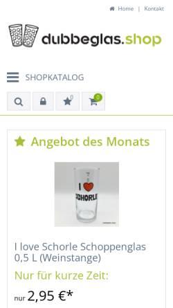Vorschau der mobilen Webseite www.dubbeglas.shop, Dubbeglas Shop