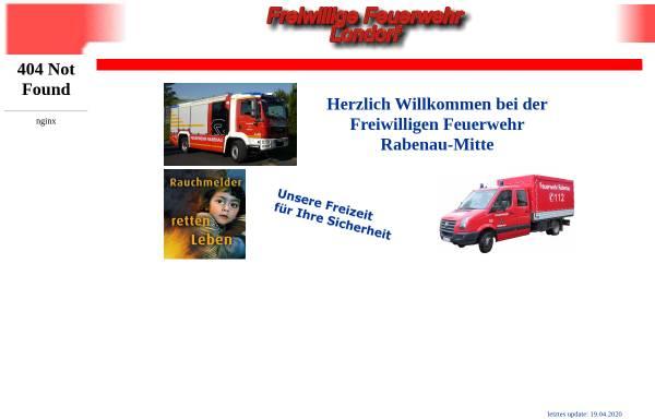 Vorschau von www.feuerwehr-londorf.de, Freiwillige Feuerwehr Rabenau-Londorf