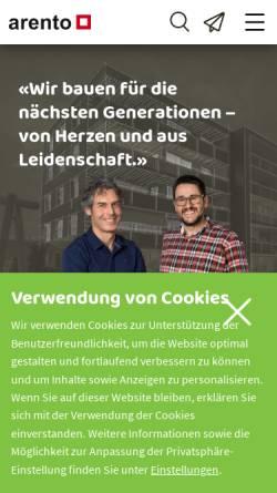 Vorschau der mobilen Webseite www.arento.ch, Arento AG
