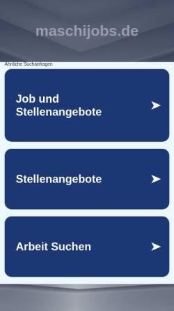Vorschau der mobilen Webseite maschijobs.de, Maschijobs