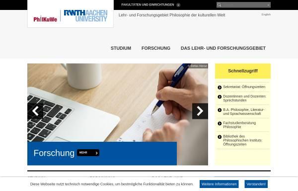 Vorschau von www.philosophie.rwth-aachen.de, Philosophisches Institut der RWTH Aachen