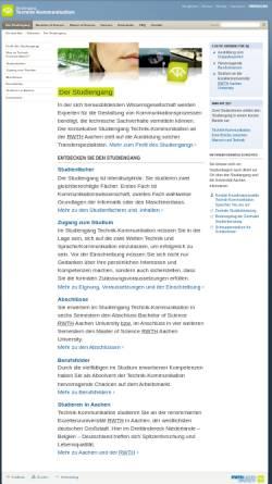 Vorschau der mobilen Webseite www.tk.rwth-aachen.de, Studiengang Technik-Kommunikation