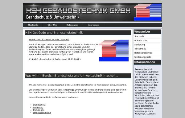 Vorschau von hsh-brandschutz.de, HSH Gebäudetechnik GmbH