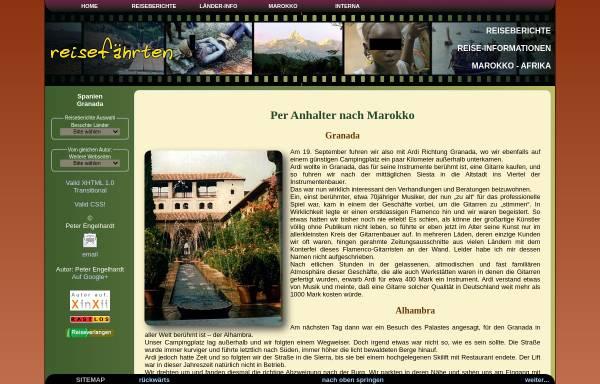 Vorschau von www.xn--reisefhrten-q8a.de, Fahrtenbuch - Granada [Peter Engelhardt]