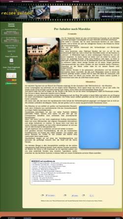 Vorschau der mobilen Webseite www.xn--reisefhrten-q8a.de, Fahrtenbuch - Granada [Peter Engelhardt]