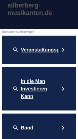 Vorschau der mobilen Webseite silberberg-musikanten.de, Silberberg Musikanten