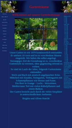 Vorschau der mobilen Webseite www.gartentraeume.ch, Gartenträume