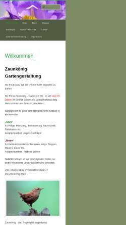 Vorschau der mobilen Webseite www.zaunkoenig.net, Zaunkönig