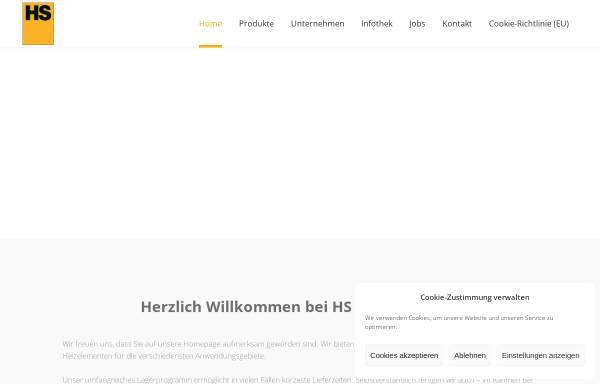 Vorschau von www.hs-heizelemente.de, Heinz Stegmeier HS-Heizelemente GmbH