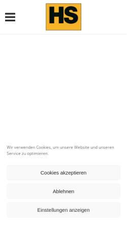 Vorschau der mobilen Webseite www.hs-heizelemente.de, Heinz Stegmeier HS-Heizelemente GmbH