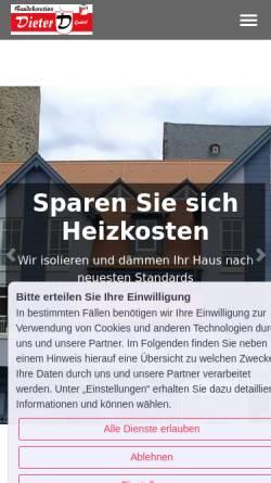 Vorschau der mobilen Webseite www.dieter-deko.de, Baudekoration Dieter GmbH