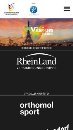 Vorschau der mobilen Webseite www.osp-rheinland.de, Olympiastützpunkt Rheinland