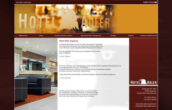 Vorschau von www.hotel-adler-augsburg.de, Hotel Adler