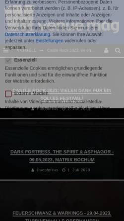 Vorschau der mobilen Webseite www.musicweblog.de, Andrea's MusicWeblog