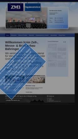 Vorschau der mobilen Webseite www.zmb-berlin.de, Zelt-, Messe- & Bühnenbau Bähringer