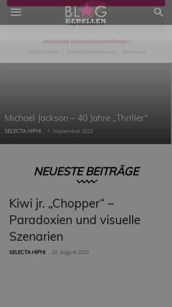 Vorschau der mobilen Webseite blog.rebellen.info, Blogrebellen