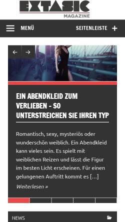 Vorschau der mobilen Webseite extasic.com, extasic.com