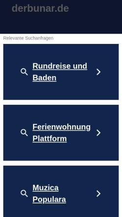 Vorschau der mobilen Webseite www.derbunar.de, Foto & Musik Blog