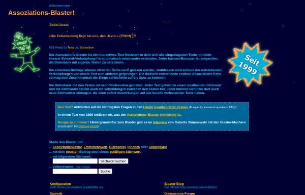 Vorschau von www.assoziations-blaster.de, Der Assoziations-Blaster