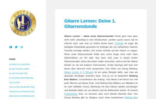 Vorschau von www.guitargeorge.de, Guitargeorge Gitarrenblog