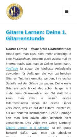 Vorschau der mobilen Webseite www.guitargeorge.de, Guitargeorge Gitarrenblog