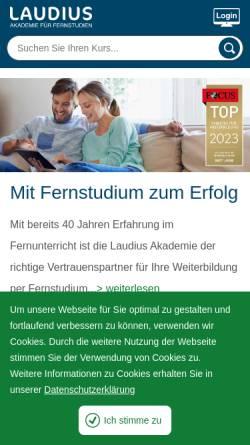 Vorschau der mobilen Webseite www.laudius.de, Laudius GmbH