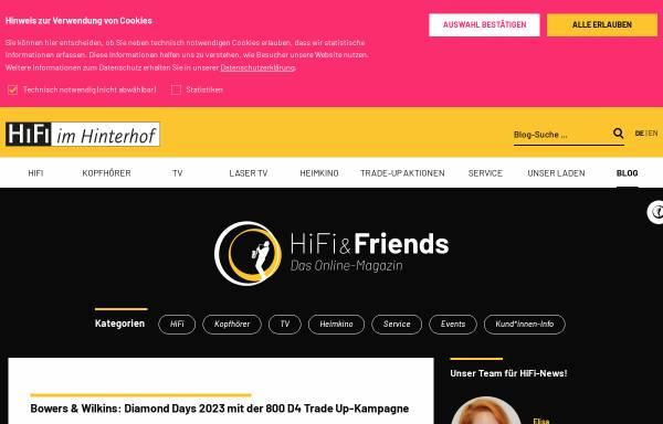 Vorschau von www.hifi-and-friends.de, Hifi and Friends