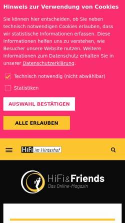 Vorschau der mobilen Webseite www.hifi-and-friends.de, Hifi and Friends