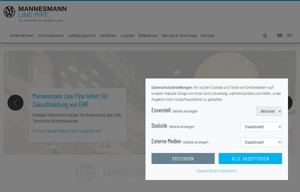 Vorschau von www.mannesmann-linepipe.com, Mannesmann Line Pipe GmbH