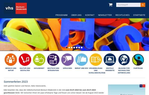 Vorschau von www.vhs-beckum-wadersloh.de, Volkshochschule Beckum - Wadersloh
