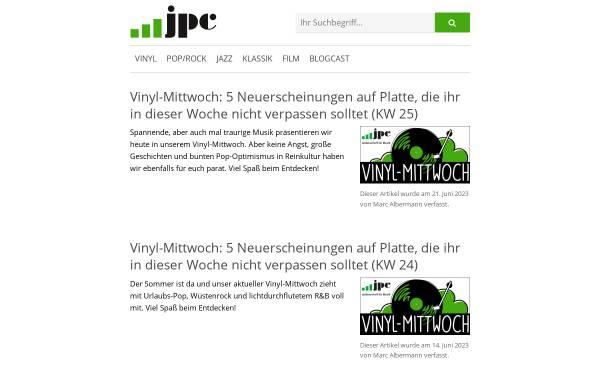 Vorschau von weblog.jpc.de, jpc bloggt