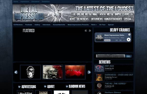 Vorschau von www.metal-impressions.de, Metal Impressions