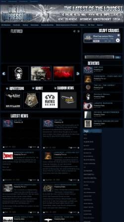 Vorschau der mobilen Webseite www.metal-impressions.de, Metal Impressions