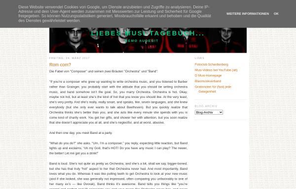 Vorschau von mkschardenberg.blogspot.com, Liebes Musi-Tagebuch...