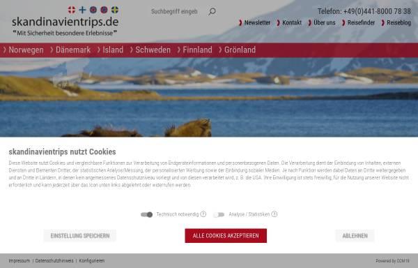 Vorschau von www.skandinavientrips.de, Club Aktiv Erlebnisreisen
