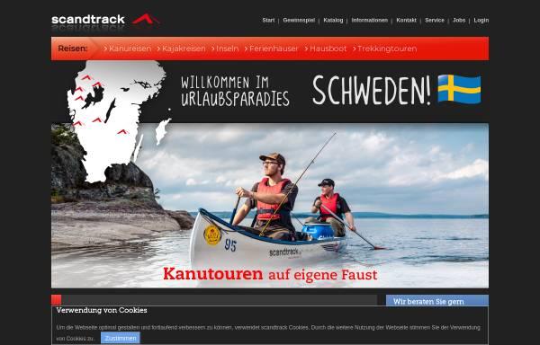 Vorschau von www.huskytrack.de, Scandtrack Touristik GmbH