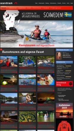 Vorschau der mobilen Webseite www.huskytrack.de, Scandtrack Touristik GmbH