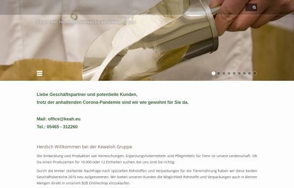 Vorschau von www.keweloh-tierernaehrung.de, Keweloh Tierernährung GmbH & Co KG
