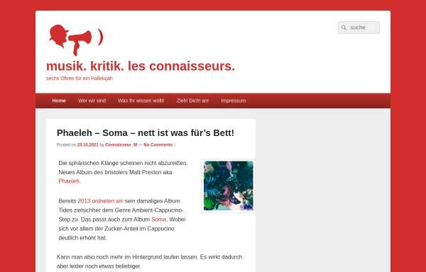 Vorschau von www.raus-aus-der-prostitution.de, Musik. Kritik. Les Connaisseurs.