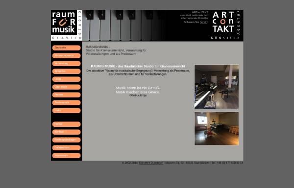 Vorschau von www.raumfuermusik.com, Artcontakt Klavierstudio Dorothée Dunsbach