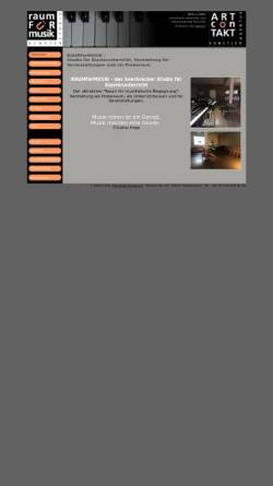 Vorschau der mobilen Webseite www.raumfuermusik.com, Artcontakt Klavierstudio Dorothée Dunsbach