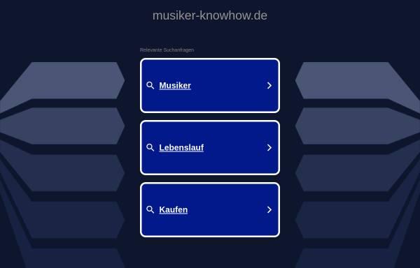 Vorschau von www.musiker-knowhow.de, Musiker Knowhow