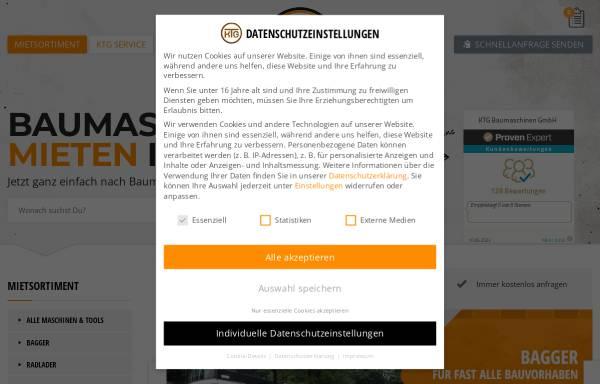 Vorschau von www.ktg-baumaschinen.de, KTG-Baumaschinen GmbH