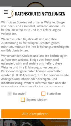 Vorschau der mobilen Webseite www.ktg-baumaschinen.de, KTG-Baumaschinen GmbH